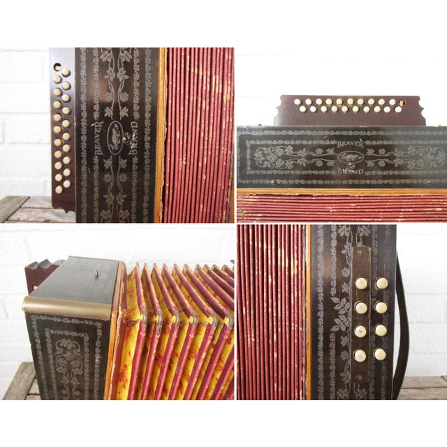 Vintage Beaver Melodeon Accordion - Image 4 of 7