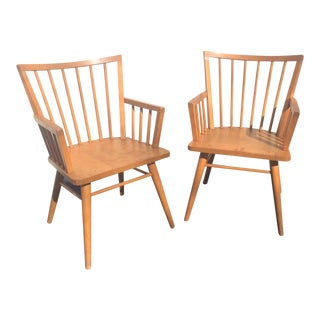 Mid-Century 1950's Russel Wright for Conant Ball Arm Chairs - A Pair