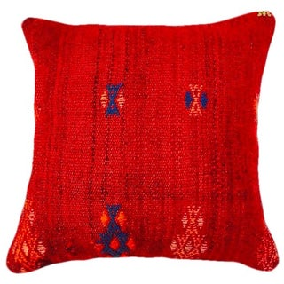 Red Turkish Kilim Pillow