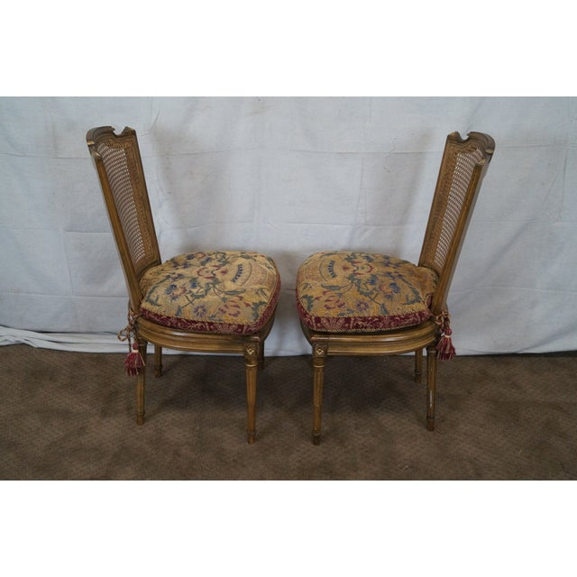 French Louis XVI Caned Dining Chairs - Set of 6 - Image 3 of 10