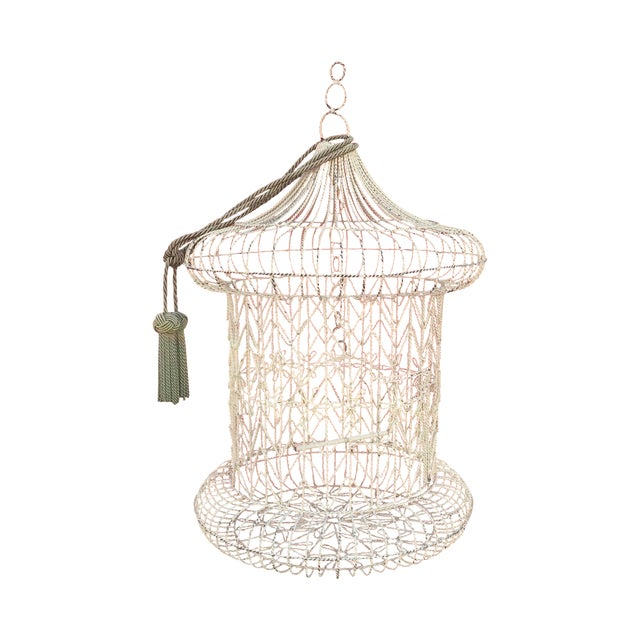 Vintage Shabby Chic Bird Cage - Image 1 of 9
