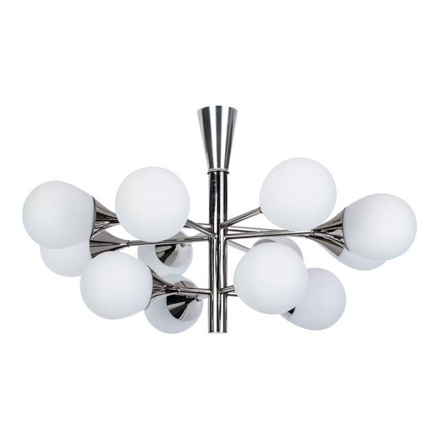 Exceptional Orbital Form Sputnik Chandelier - Image 1 of 6