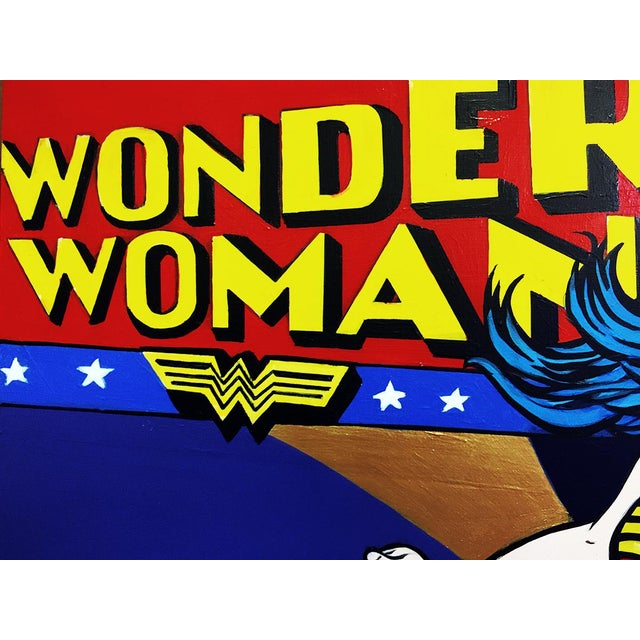 """Wonder Woman"" Original Acrylic Painting by Hatti Hoodsveld - Image 6 of 8"