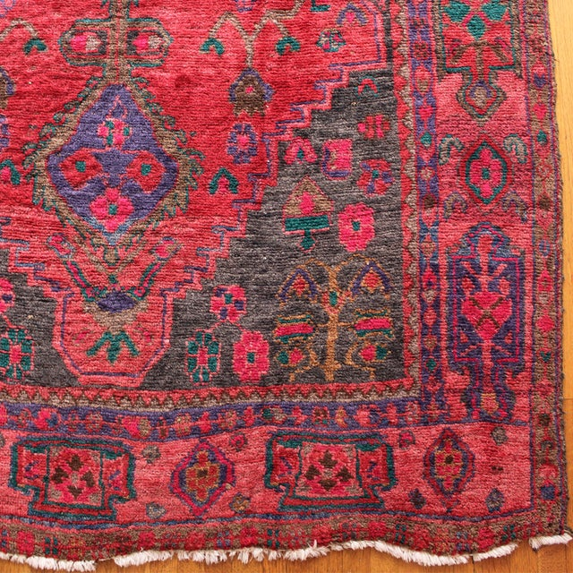"""Vintage Hand-Knotted Persian Rug - 9'2"""" X 4'6"""""""