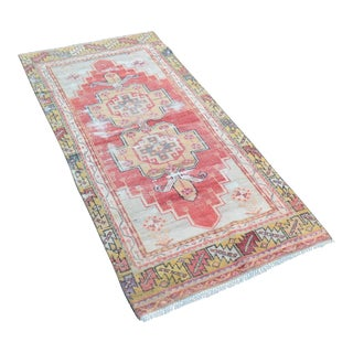 Decorative Hanknotted Turkish Rug - 2′10″ × 6′1″
