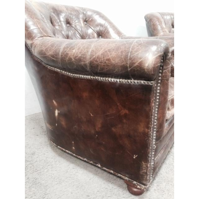 Leather Club Chairs - Pair - Image 6 of 11