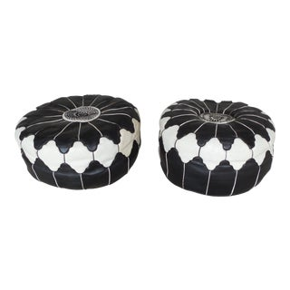 Vintage Moroccan Ottomans - A Pair