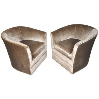 Hollywood Regency Swivel Chairs - A Pair