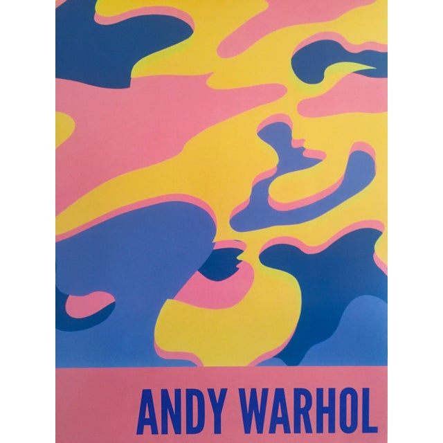 """Andy Warhol Original Lithograph Pop Art Poster """"Pink Camouflage"""" 1987 - Image 5 of 10"""
