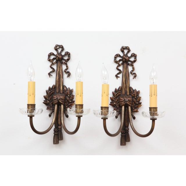 French Bronze Art Nouveau Sconces - A Pair - Image 2 of 8