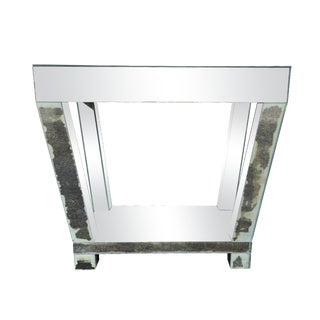 Custom Made Mirrored Side Table With One Drawer