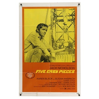 """Five Easy Pieces"" Original Movie Poster"
