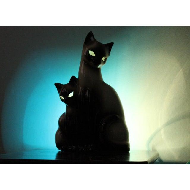 Vintage Ceramic Siamese Lamp - Image 4 of 8