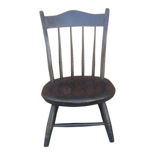 Early NE 19th c. Original Painted Surface Child's Windsor Chair