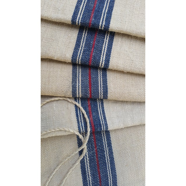 Image of French Country Linen & Hemp Grain Sacks - Set of 5