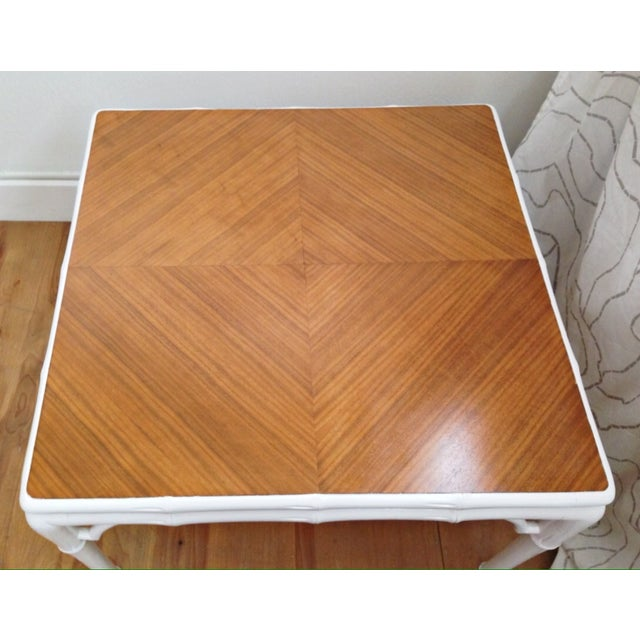 Hollywood Regency Bamboo Coffee Table - Image 7 of 7