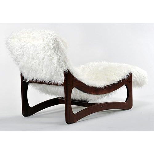 White Mongolian Faux Fur Chaise Lounge Chairish
