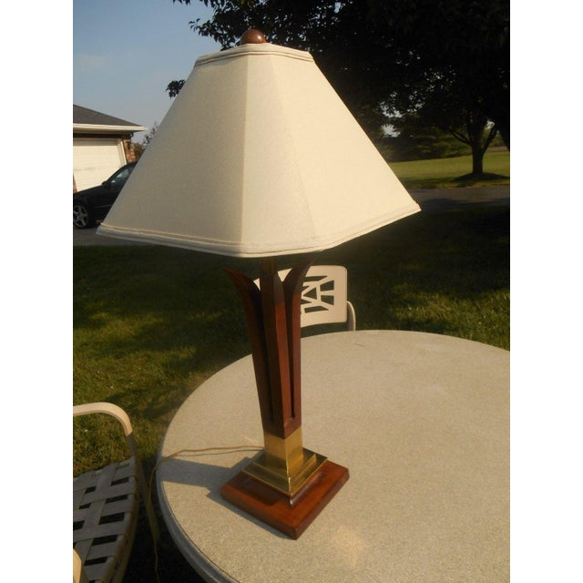 MCM Frederick Cooper Walnut Table Lamp - Image 3 of 5