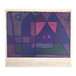 """Paul Klee Vintage 1967 Original Lithograph Print """"Small Room in Venice"""", 1933"""