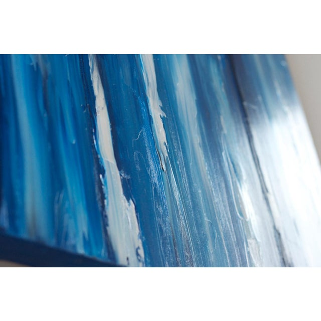 Image of XL Seascape Abstract Oil Painting on Canvas