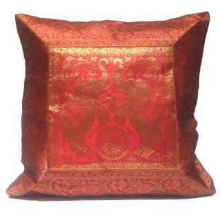 Vintage Brocade Elephant Pillow