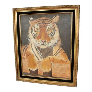 Oil on Canvas Painting of Bengal Tiger by Stewart