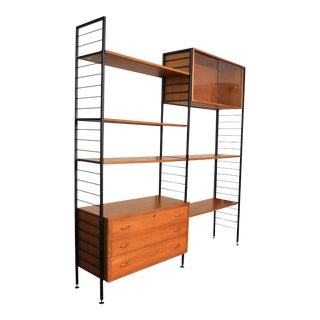 Mid Century Danish Modern Teak Ladderax Shelving Unit Made by Staples