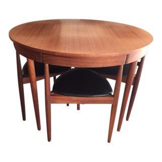 Hans Olsen Frem Rojle Teak Dining Table & Chairs - Set of 5