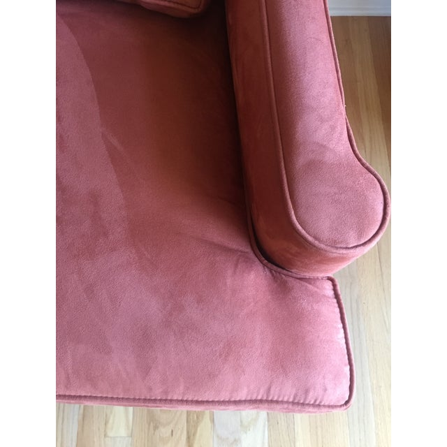 Arhaus Burnt Orange Velvet Sofa - Image 5 of 7