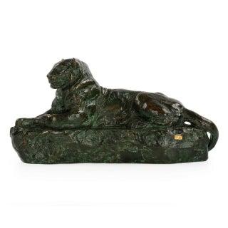 """""""Panthére De l'India No. 1"""" Sculpture by Ferdinand Barbedienne"""