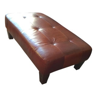 Pottery Barn Leather Ottoman