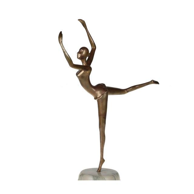 Image of Prima Ballerina on Round Marble Base