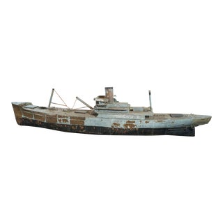 Painted Copper Ship Model