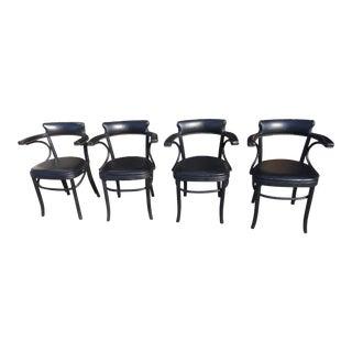 4 Restortation Hardware Dining Chairs Vienna Cafe