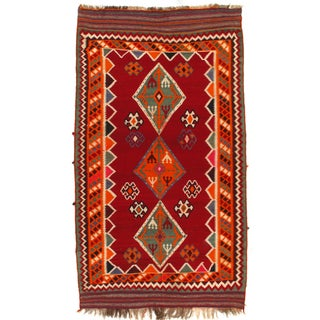 "Vintage Persian Kilim Rug - 5'4"" X 9'4"""