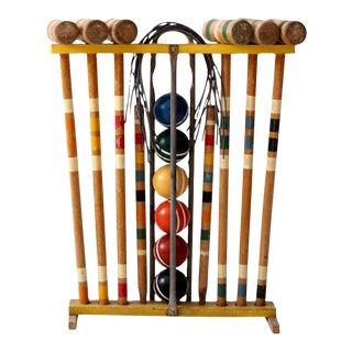 Vintage Croquet Set & Stand