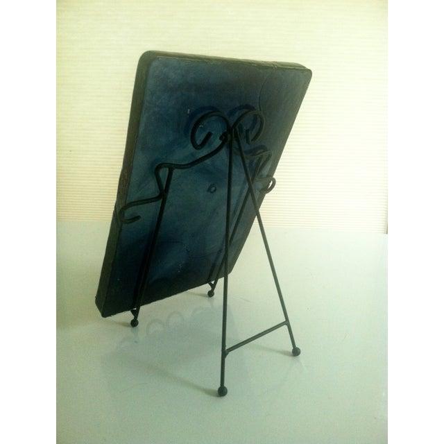 Blenko Blue Art Glass Panel - Image 5 of 7