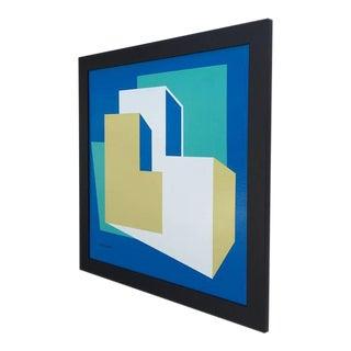 Original Enamel on Masonite Abstract Painting by Rick Orr