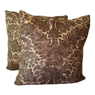 Ralph Lauren Linen Batik Pillows - A Pair