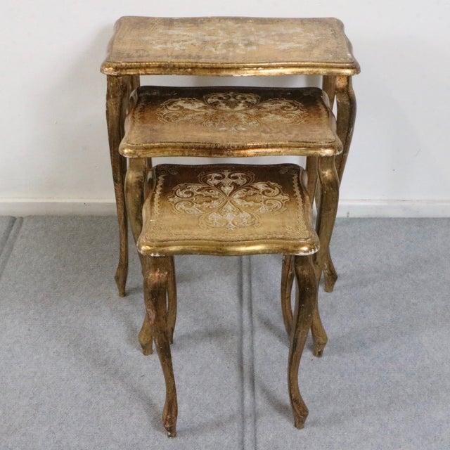 Italian Florentine Nesting Tables – Set of 3 - Image 3 of 7