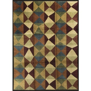"Contemporary Diamond Wool Rug - 8'11"" x 11'7"""