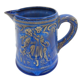 Japanese Vintage Blue Glazed Pitcher