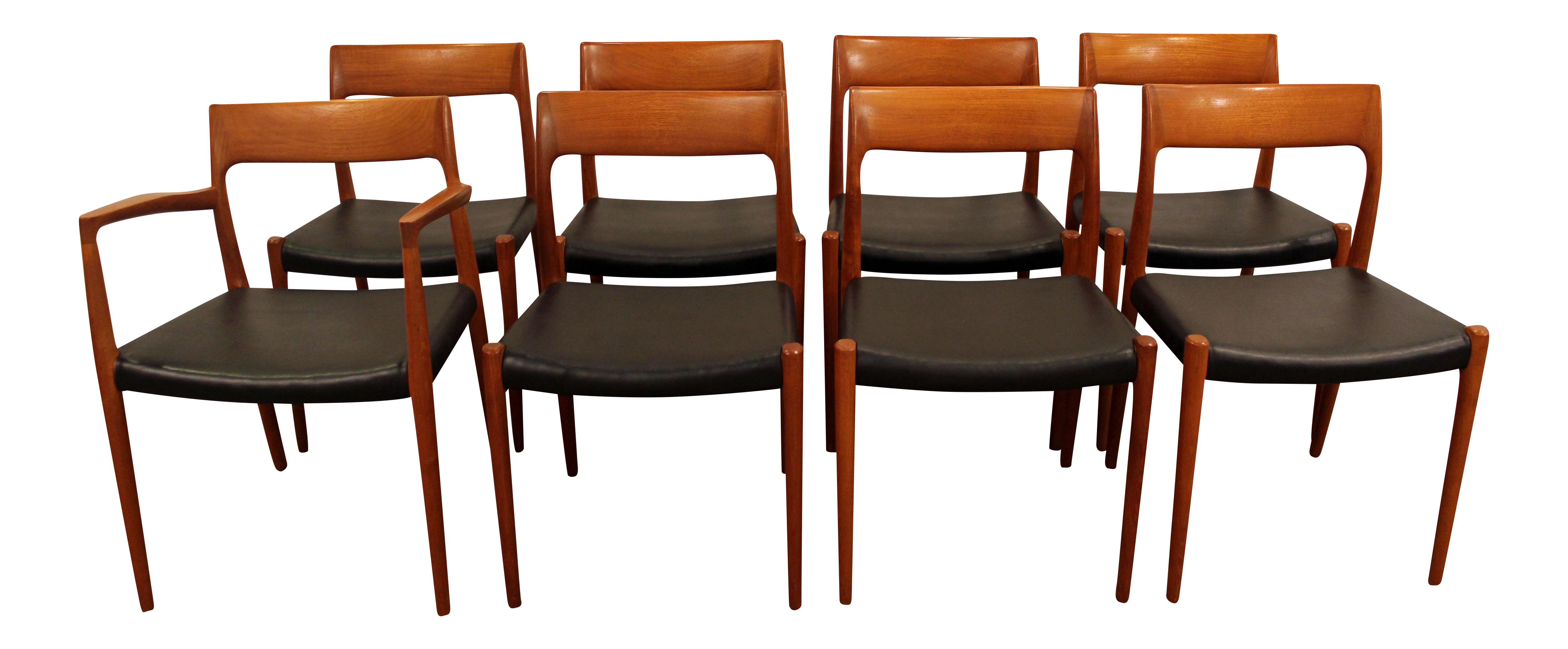 Danish Modern Niels Moller #77 Teak Dining Chairs   Set Of 8