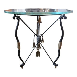 Italian Giocometti Inspired Iron and Brass Table