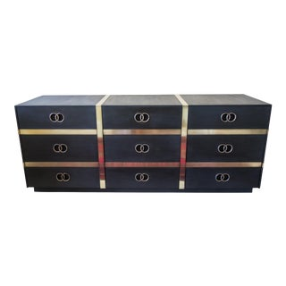 Heritage Charcoal Brass Strap Dresser