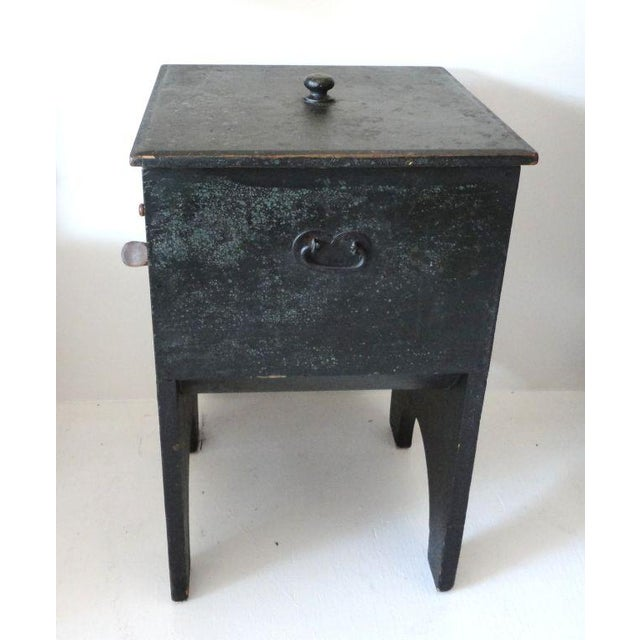 Fantastic 19th Century Original Painted Shaker Style Bin/Churn/Signed - Image 2 of 8