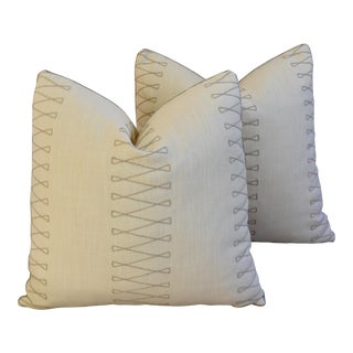 Designer Old World Weavers Cuba Libre Pillows - A Pair