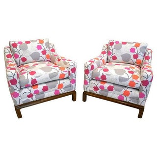 Mid Century Modern Club Chairs - Pair