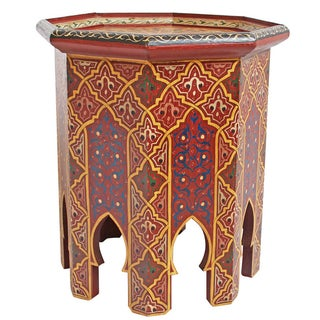 Painted Moroccan Side Table
