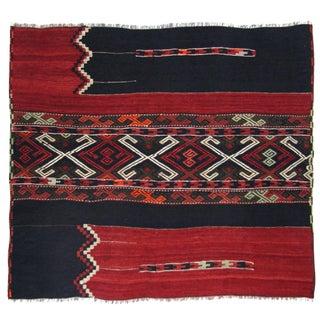 """Vintage Turkish Sofreh Kilim Flatweave Rug - 2'10"""" x 3'4"""""""